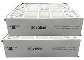 20x25x5 air filter display